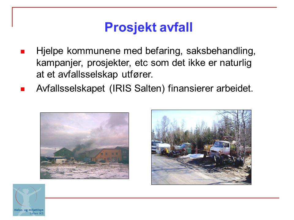 Hjelpe kommunene med befaring, saksbehandling, kampanjer, prosjekter, etc som det ikke er naturlig at et avfallsselskap utfører. Avfallsselskapet (IRI