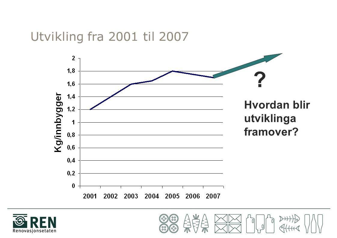 Utvikling fra 2001 til 2007 ? Hvordan blir utviklinga framover?