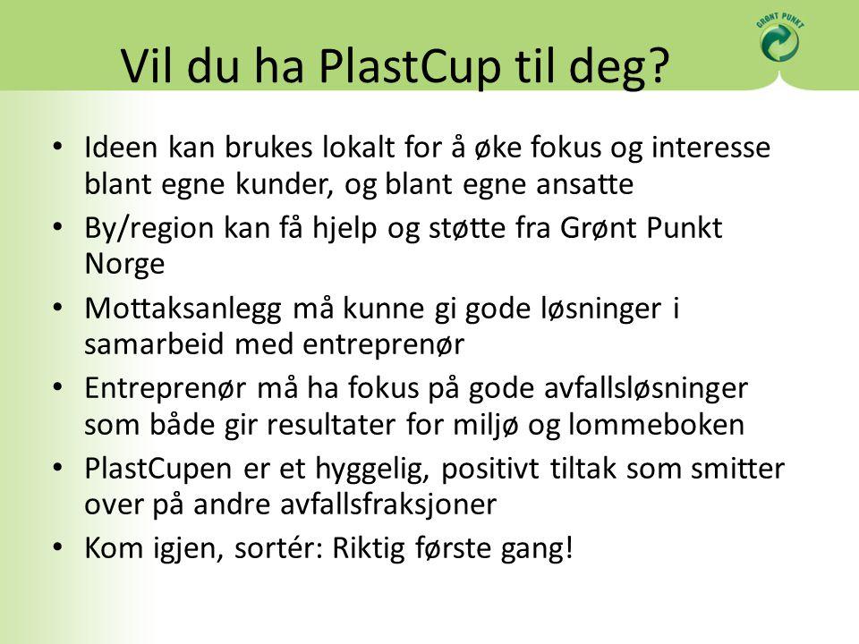 Vil du ha PlastCup til deg? Ideen kan brukes lokalt for å øke fokus og interesse blant egne kunder, og blant egne ansatte By/region kan få hjelp og st