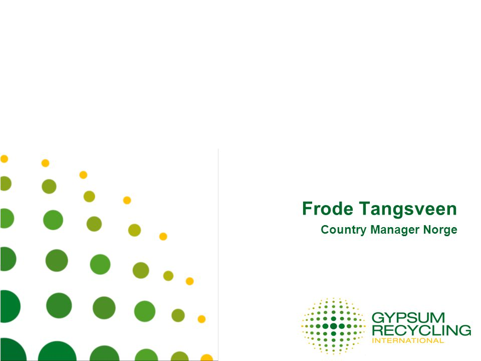 Frode Tangsveen Country Manager Norge