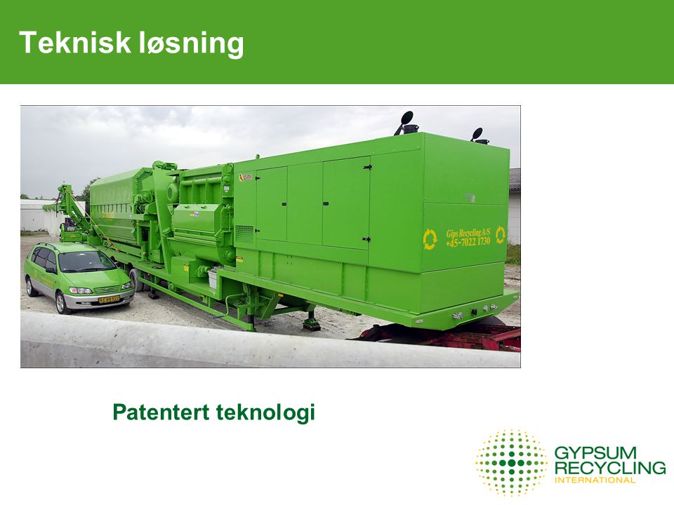 Teknisk løsning Patentert teknologi