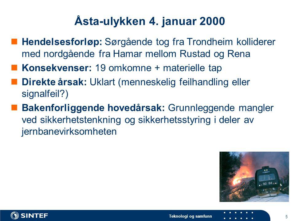 Teknologi og samfunn 5 Åsta-ulykken 4.