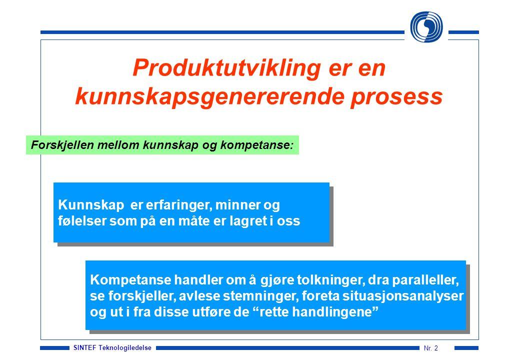 SINTEF Teknologiledelse Nr.3 Hva er taus kunnskap.