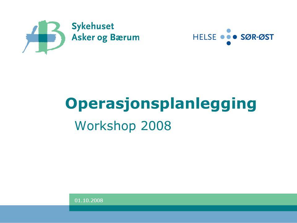 Operasjonsplanlegging Workshop 2008 01.10.2008
