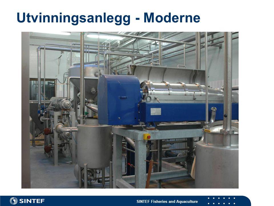 SINTEF Fisheries and Aquaculture Utvinningsanlegg - Moderne