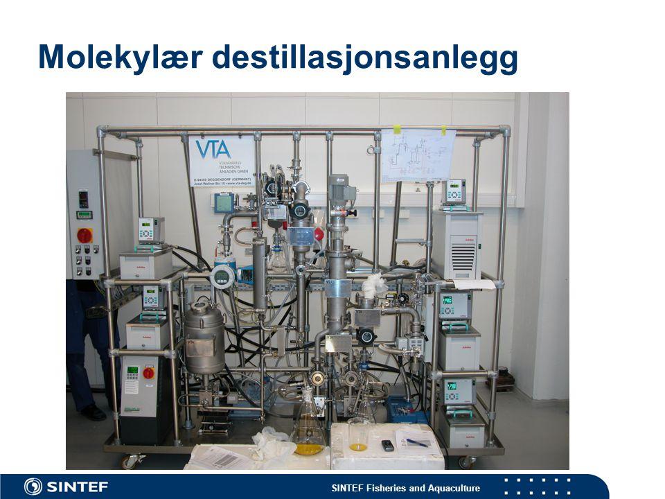 SINTEF Fisheries and Aquaculture Molekylær destillasjonsanlegg