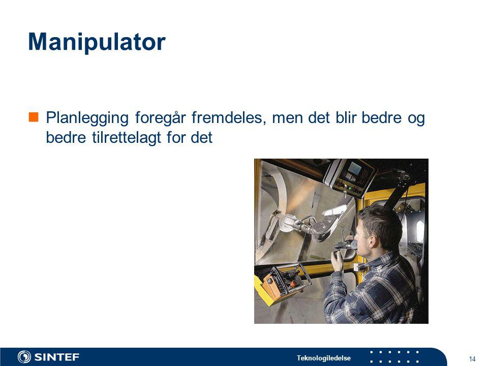 Teknologiledelse 15 ASIV Samarbeidsprosjekt mellom ABB Haugesund Kleven Florø Rolls Royce Marine, Dept.