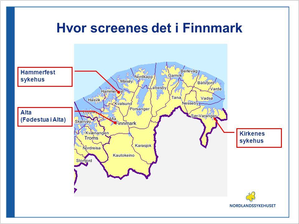 Screening i Helgelandssykehuset Helgelandssykehuset Rana: Oppstart i 2001.