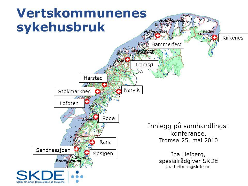 Tromsø Hammerfest Kirkenes Harstad Narvik Stokmarknes Lofoten Bodø Rana Mosjøen Sandnessjøen Innlegg på samhandlings- konferanse, Tromsø 25.