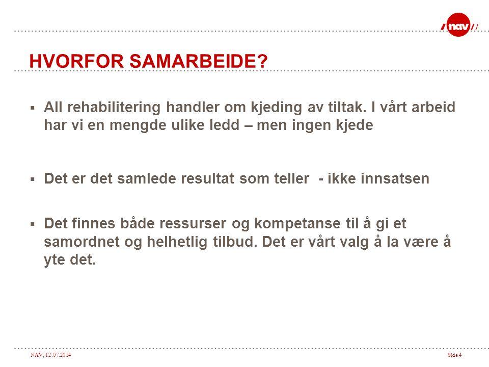 NAV, 12.07.2014Side 5 EKSEMPLER  Kasus 1: Per, 21 – bosatt på mindre tettested i Troms.