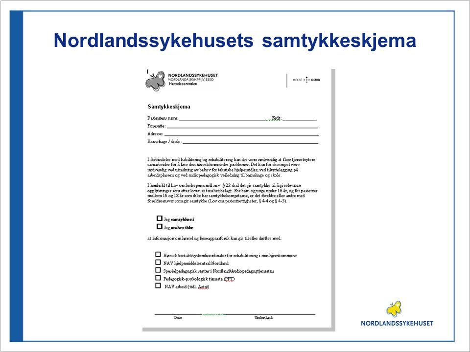 Nordlandssykehusets samtykkeskjema