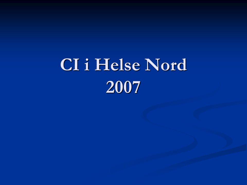 CI i Helse Nord 2007