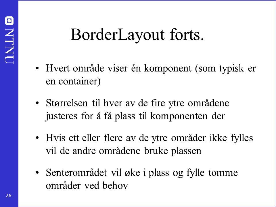 26 BorderLayout forts.