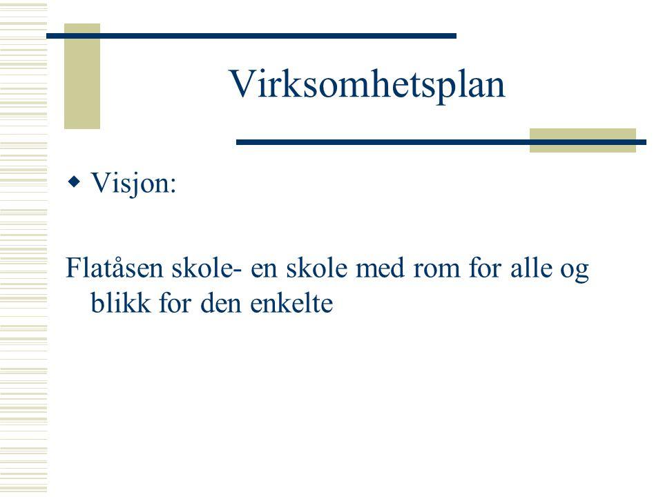 Virksomhetsplan  Visjon: Flatåsen skole- en skole med rom for alle og blikk for den enkelte