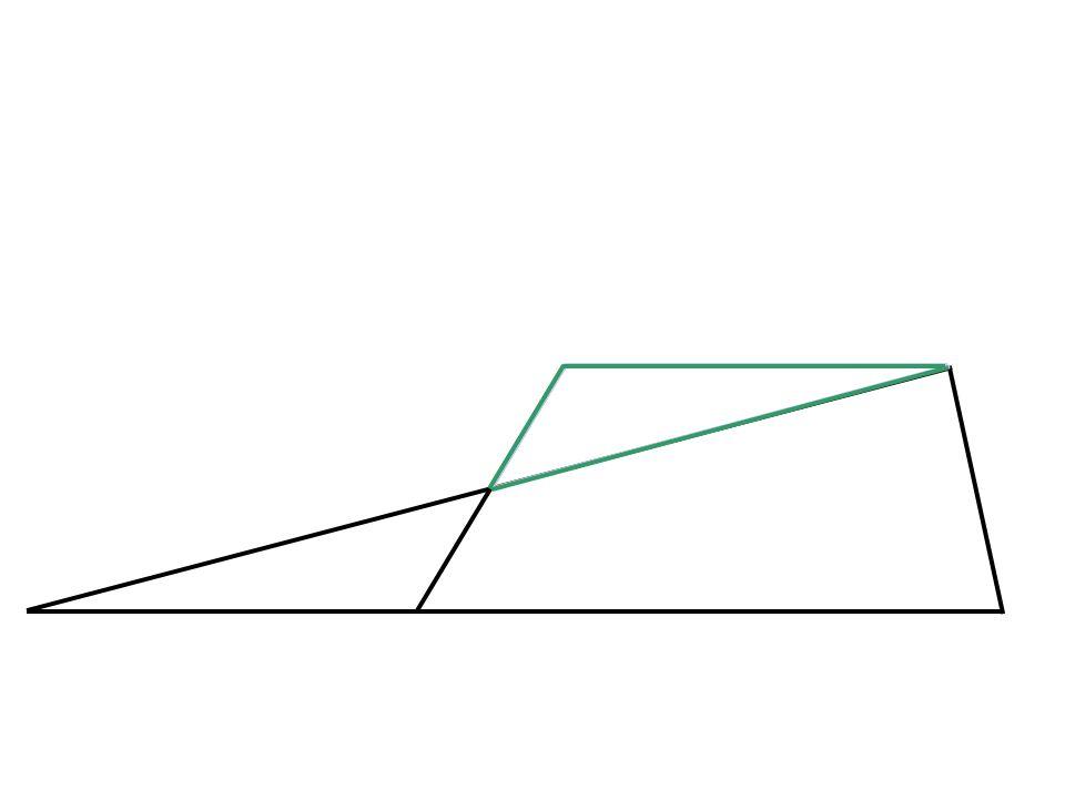 De to grønne trekantene vil være kongruente (ha likt areal)
