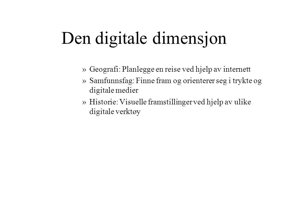 Verb som omtaler det digitale Søke….Utforske….Utøve…. Kommunisere Velge….Presentere…Publisere….Samarbeide…