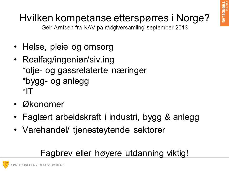 Hvilken kompetanse etterspørres i Norge.
