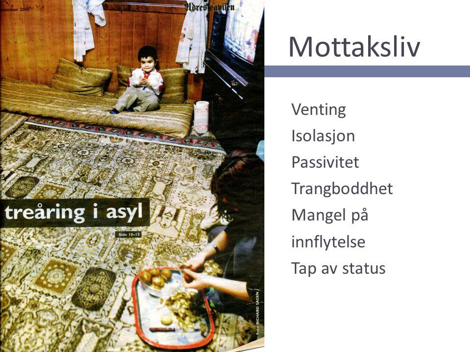 Mottaksliv Venting Isolasjon Passivitet Trangboddhet Mangel på innflytelse Tap av status 11