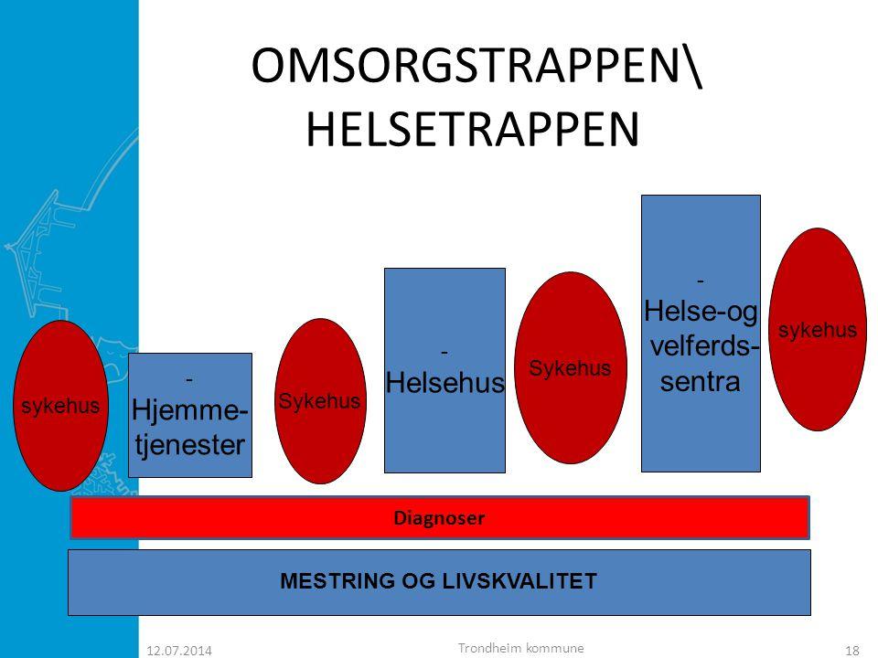  Hvorfor har Trondheim satset på Helsehus? 12.07.201419 Trondheim kommune