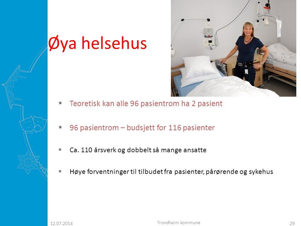 12.07.201430 HELSEHUS  Bare korttidsopphold  Rehabilitering  Intermediær  Utredning  Behandling  Avlastning  Bufferplasser ( sykehjemspasienter) Trondheim kommune