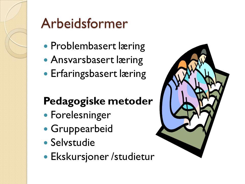 VURDERING Arbeidskrav blir vurdert etter karakterskalaen A-F.