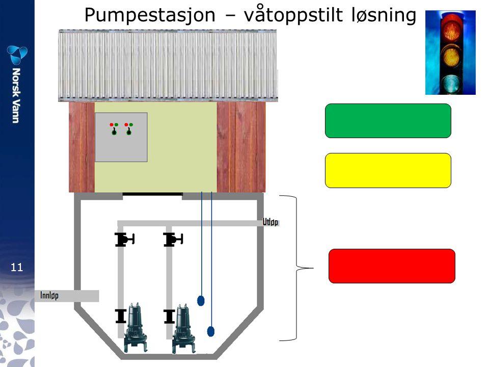 11 Pumpestasjon – våtoppstilt løsning