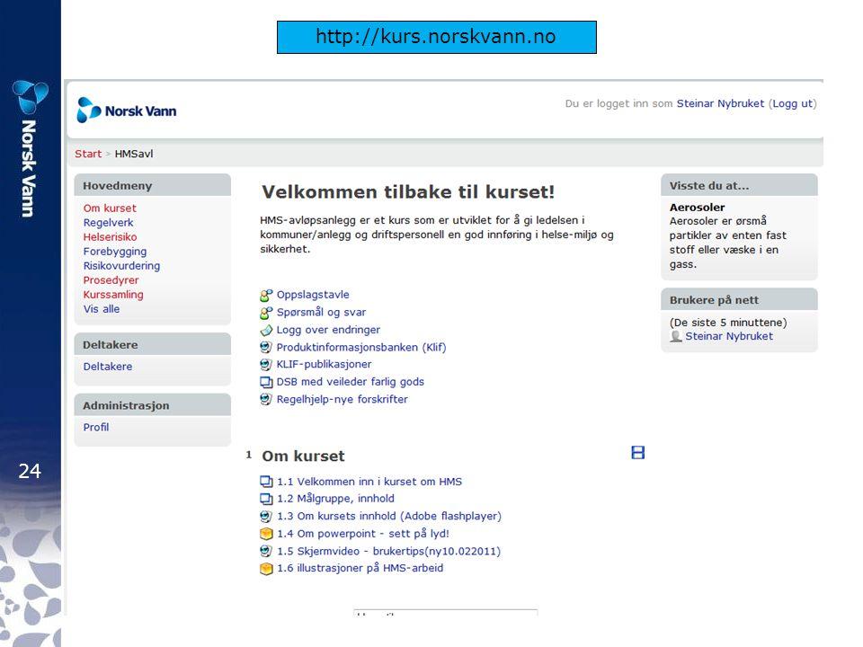 24 http://kurs.norskvann.no