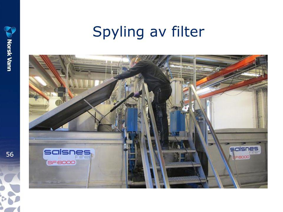 56 Spyling av filter