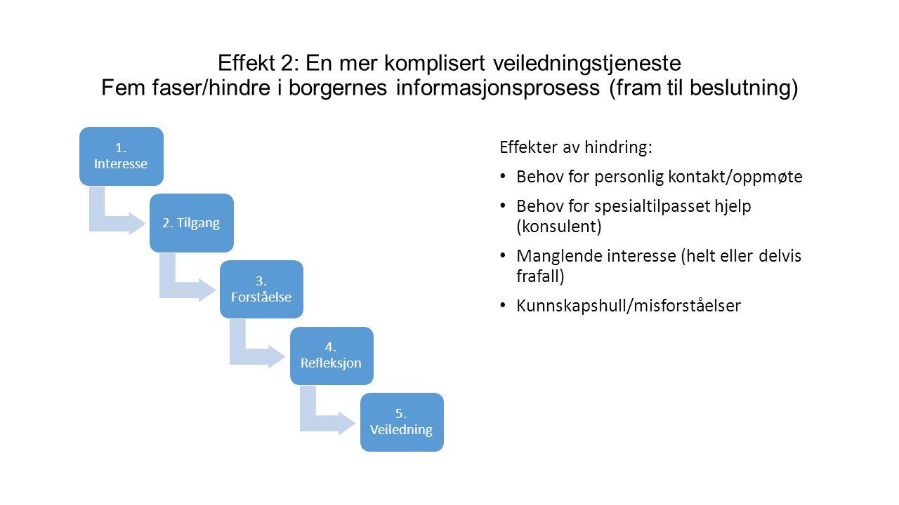 1. Interesse 2. Tilgang 3. Forståelse 4. Refleksjon 5.