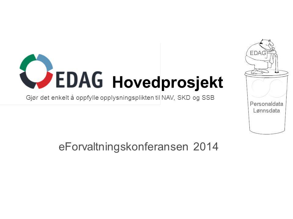 eForvaltningskonferansen 2014 Hovedprosjekt Gjør det enkelt å oppfylle opplysningsplikten til NAV, SKD og SSB