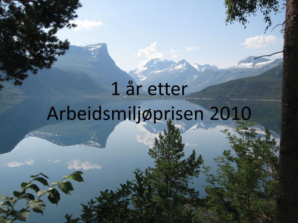 1 år etter Arbeidsmiljøprisen 2010