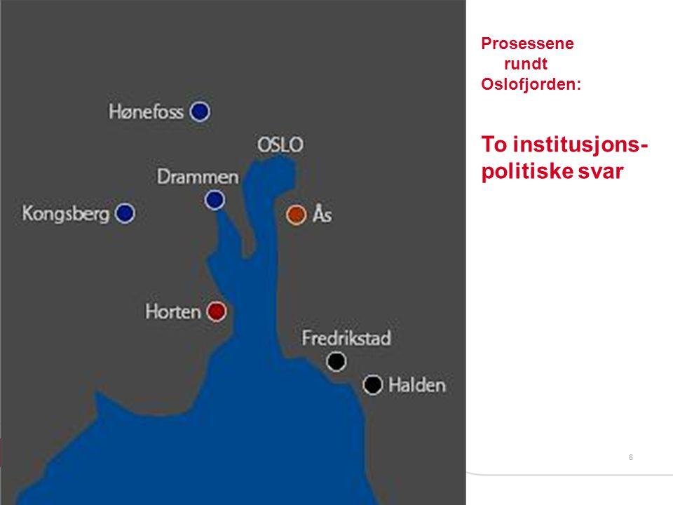 6 Prosessene rundt Oslofjorden: To institusjons- politiske svar