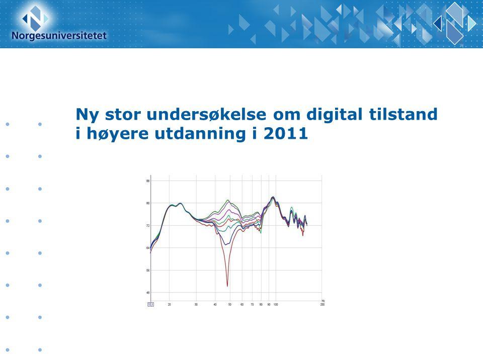 Ny stor undersøkelse om digital tilstand i høyere utdanning i 2011