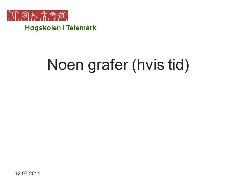 12.07.2014 Noen grafer (hvis tid) Høgskolen i Telemark
