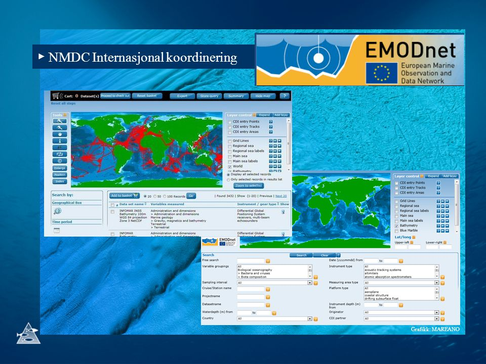 ▶ NMDC Internasjonal koordinering Grafikk: MAREANO