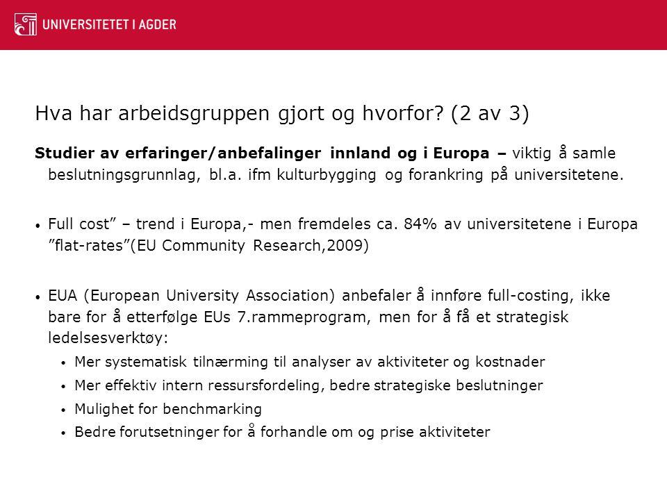 Grovt estimerte gjennomsnittstall(!!!) for FoU og U, Stavanger 2009-09 – første (feilaktige analyse)