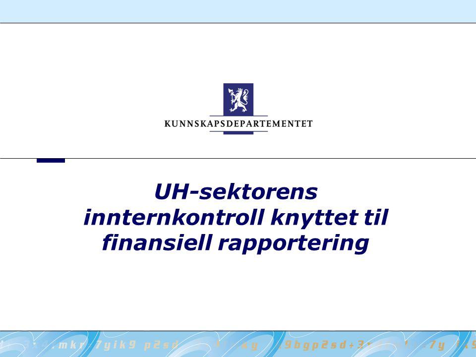 UH-sektorens innternkontroll knyttet til finansiell rapportering
