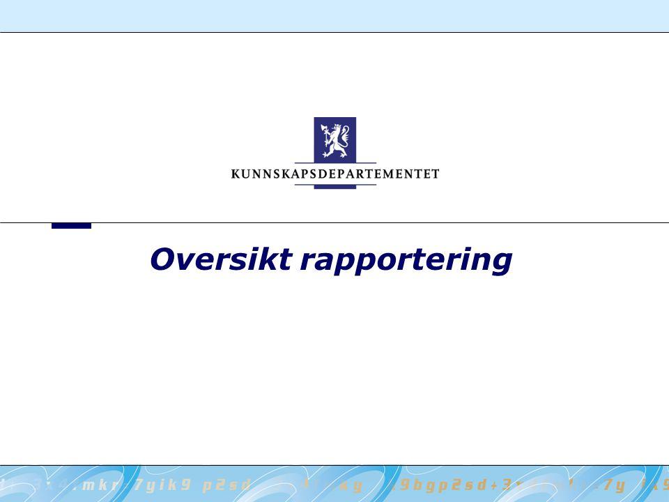 Oversikt rapportering