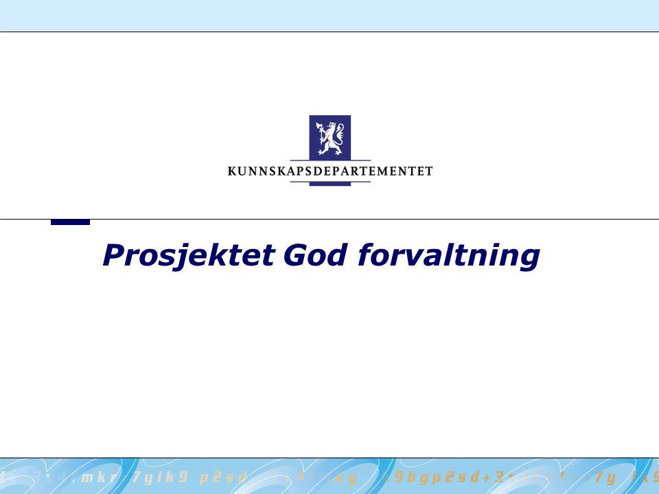 Prosjektet God forvaltning