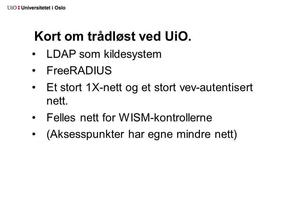 Bakgrunn for karantenenett Før sperret vi alle brukere i FreeRADIUS.
