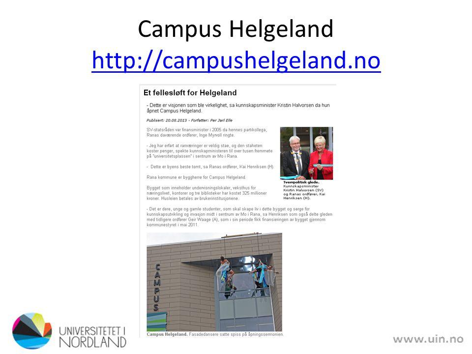 Campus Helgeland http://campushelgeland.no http://campushelgeland.no