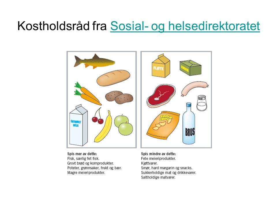 Kostholdsråd fra Sosial- og helsedirektoratetSosial- og helsedirektoratet