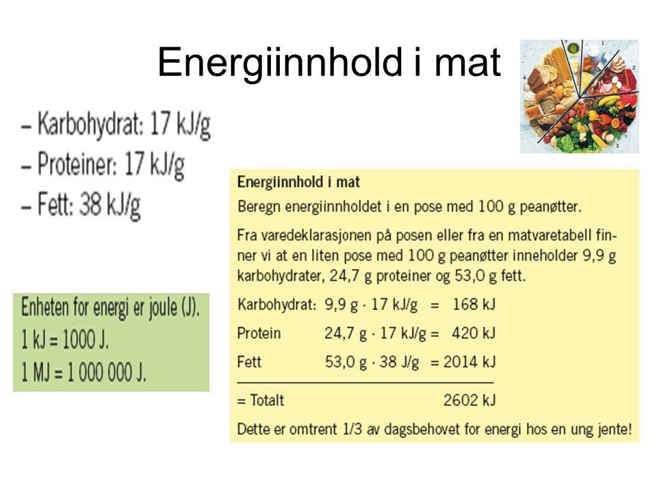 Energiinnhold i mat