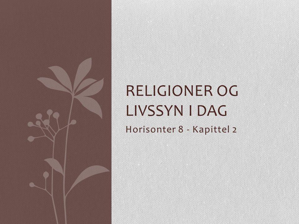 Horisonter 8 - Kapittel 2 RELIGIONER OG LIVSSYN I DAG