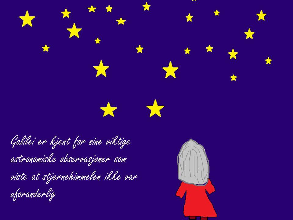 Galilei er kjent for sine viktige astronomiske observasjoner som viste at stjernehimmelen ikke var uforanderlig