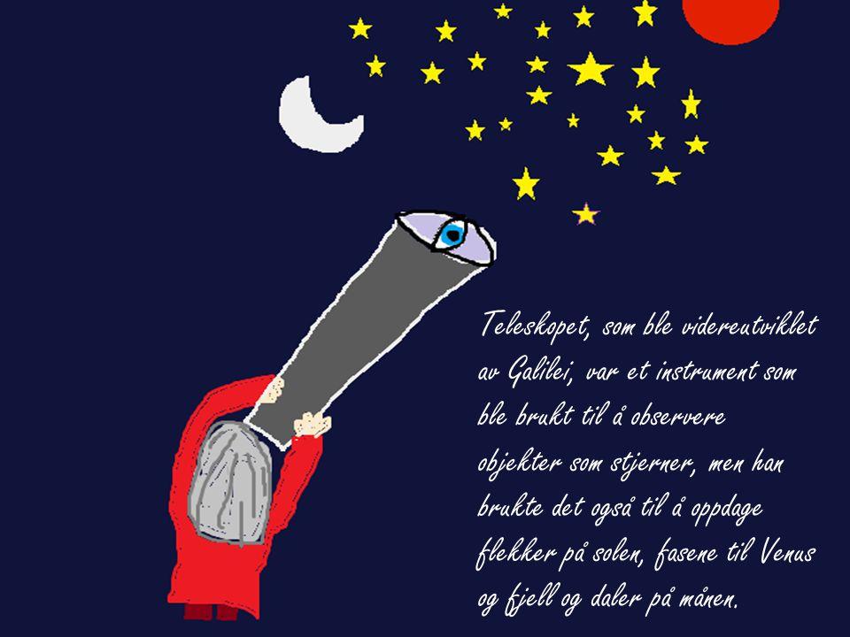 Teleskopet, som ble videreutviklet av Galilei, var et instrument som ble brukt til å observere objekter som stjerner, men han brukte det også til å op