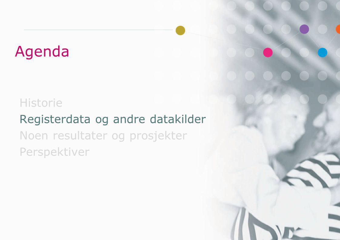 Nasjonalt helseregisterprosjekt Mandat - Mål Legge til rette for bedre utnyttelse av data Særlig fokus på ›forskning ›helseovervåking ›kunnskapsgrunnlag i forebygging ›kvalitetsforbedring av klinisk virksomhet Styrke, samle og samordne de nasjonale registerfaglige miljøene