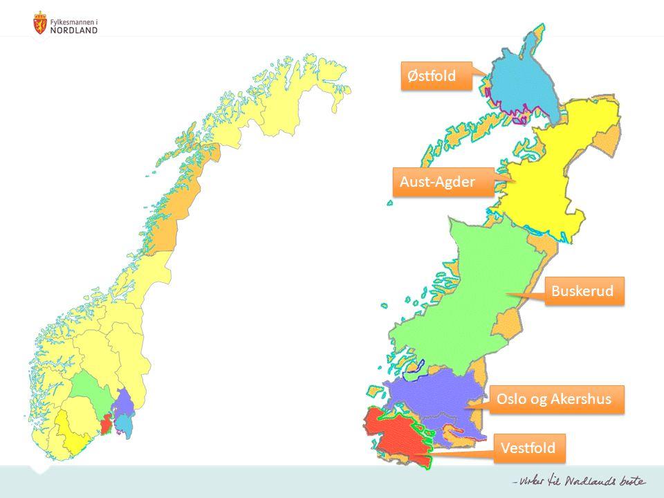 Aust-Agder Buskerud Oslo og Akershus Vestfold Østfold