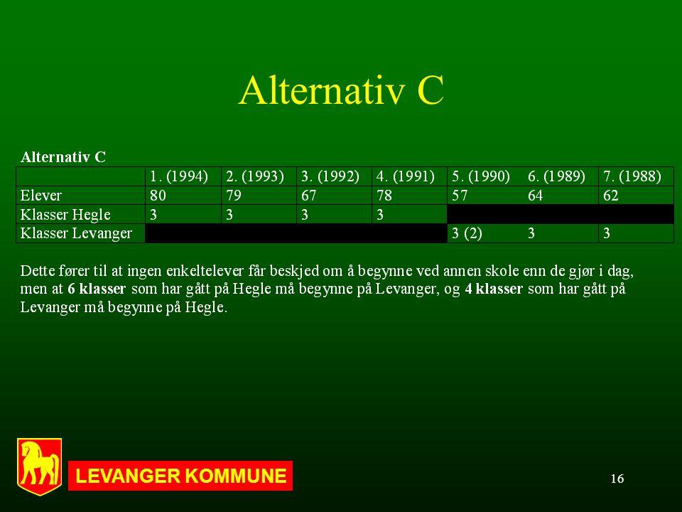 LEVANGER KOMMUNE 16 Alternativ C