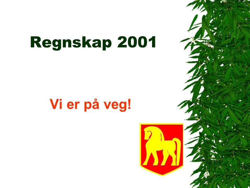 Regnskap 2001 Vi er på veg!
